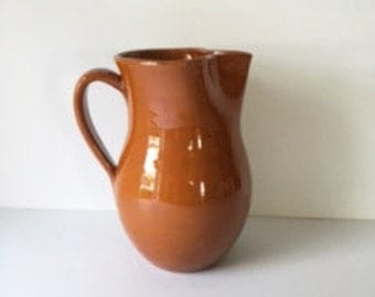 Clay Pottery Pitcher / Milk Jug / Water Pitcher