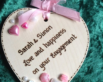 Personalised Embellished Heart for Weddings, Engagements or Anniversaries