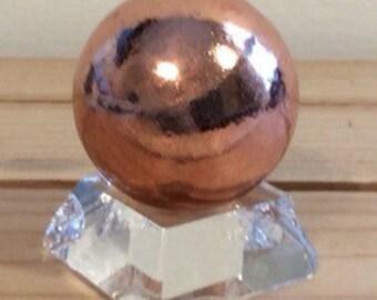 Copper Sphere,Sphere 30 mm, Healing Stone, Healing Crystal, Spiritual Stone