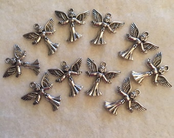 Open Arm Angels in Silver Tone (10)