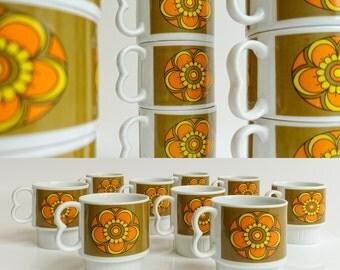 Retro Stacking coffee mugs
