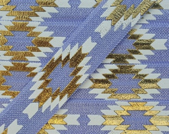 5/8 IRIS Aztec (Repeating Pattern) Fold Over Elastic