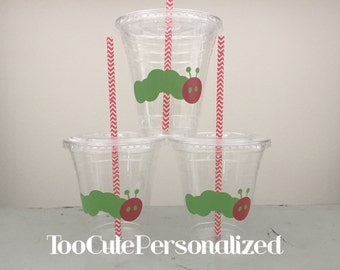 25 Plastic Hungry Caterpillar Party Cups-12 oz