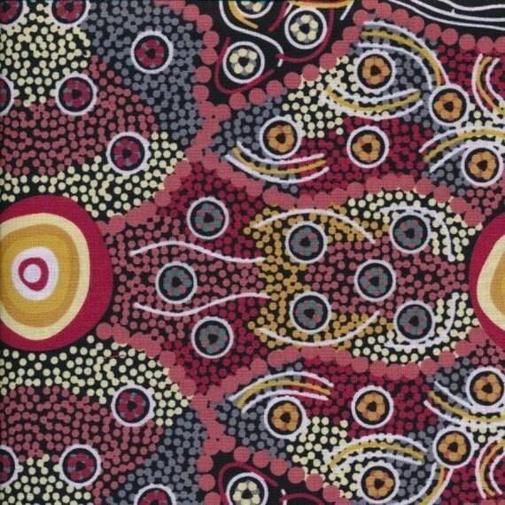 Wild coconut fabric australian aboriginal ethnic by for Star fabric australia