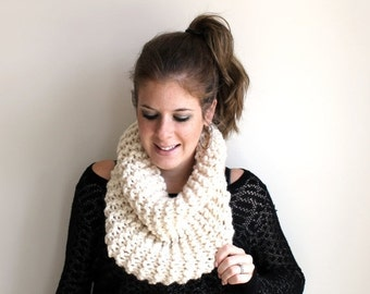 Winter SALE Scarf Cowl Knit Chunky Fisherman - Sotterley Cowl