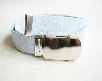 DESIGN YOUR OWN chambray belt...Newborn Belt, Toddler Belt, Boys Belt, Custom Belt