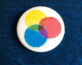 Colour Wheel Venn Diagram 25 mm Pinbadge