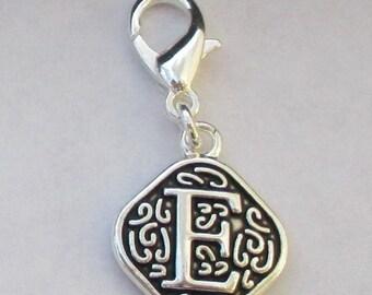 Vintage  Letter E  Dangle  Lobster Claw for Necklace - Bracelets - Key Chains