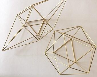 Set of two himmeli, geometric shapes