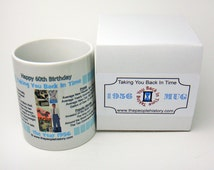 Pre-Made 1956 Birthday Message Mug - Happy 60th Birthday