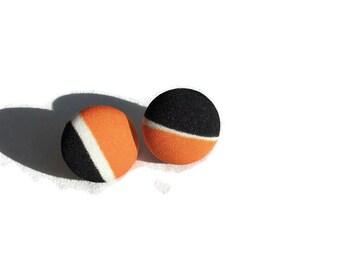 Colorblock Fabric Stud Earrings