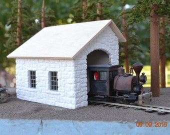 On3/On30 Scale Stone Porter Shed Hydrocal Building Kit On30 Boxcab Snozzers & mo