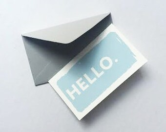"Mini ""Hello"" Cards - 12 Pack"