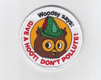 Woodsy Owl embroidered patch