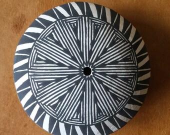 Vintage Native Acoma Seed Pot Art Pottery