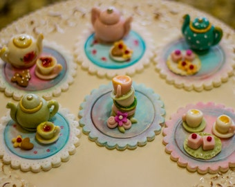 Six tea party toppers