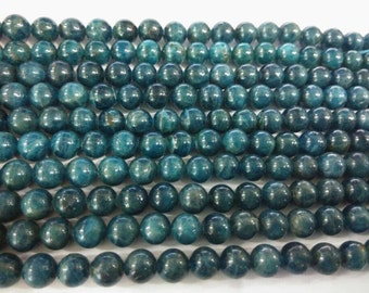 8mm Round Apatite Beads Genuine Natural 15''L 38cm Loose Beads Semiprecious Gemstone Bead   Supply