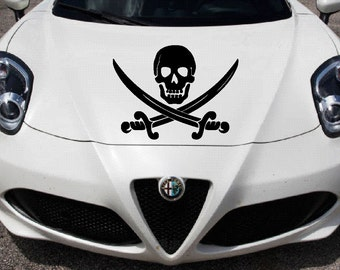 Jolly Rogers Car Hood Decal | Car Decal | Jolly Rogers Car Decal