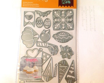 Cricut Cuttlebug Cut & Emboss Dies HOLIDAY SAMPLER  cutting dies by Cricut 577 cc52