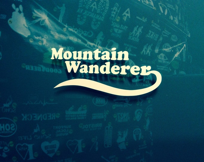 Mountain wanderer decal, hiker decal, appalachian trail decal, AT sticker, backpacker decal, hiker sticker, at sticker, thru hiker decal