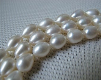 8-8.5mm Creamy White Rice Fresh Water Pearl PL35