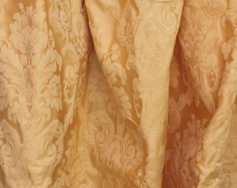 """Damask Upholstery Fabric - 56"""" - Gold Floral"""