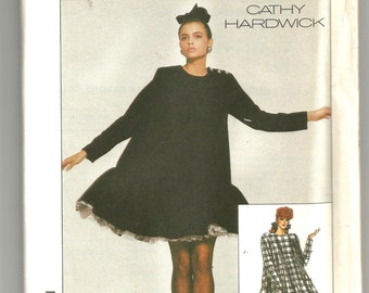 UNCUT 8349 Simplicity Sewing Pattern Loose Fitting Dress Cathy Hardwick Vintage 1980s