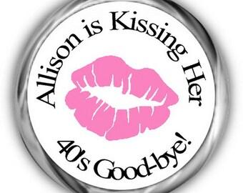 Lips Birthday Stickers | Personalized Birthday | Kissing Goodbye Sticker