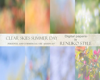 Clear Skies Summer Day backgrounds photoshop textures scrapbook paper