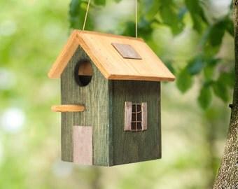 Wooden birdhouse. For Outdoor. Summer gift. Summertime. For garden.