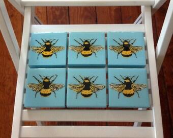 Bumble Bee, Wall Art, Stencil, Spray Paint