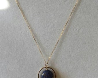 Lapis gold fill necklace