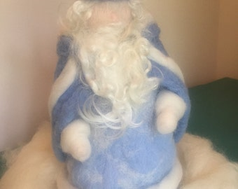 Waldorf inspired Needle Felted King Winter made to order