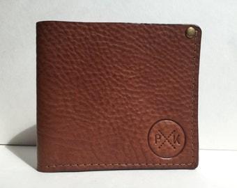 Mens leather wallet, bill fold wallet, tan leather wallet, personalised gift, tan leather wallet, simple wallet, brown leather wallet, gift