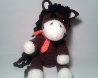 "PDF crochet pattern - pattern ""Horse Polly"""