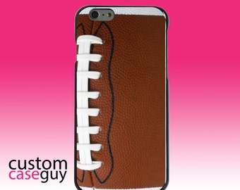 Hard Snap-On Case for Apple 5 5S SE 6 6S 7 Plus - CUSTOM Monogram - Any Colors - Football Texture Photo Laces