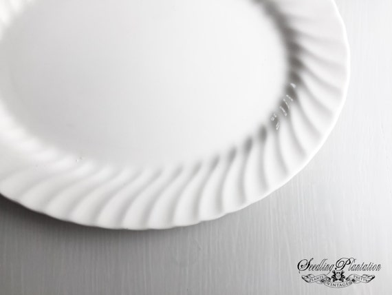 White Ironstone Serving Platter, Ironstone Dishes, Ironstone Plate, Serving Platter, White Dishes, French Country Shabby Chic Farmhouse