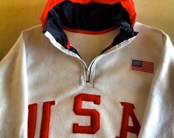 "VNDS Brand ""Olympic"" USA Retro fleece sweatshirt - All Sizes Available"