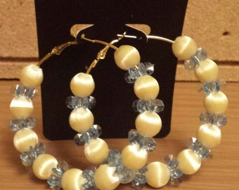 Basketball wives inspired blue and ivory hoop