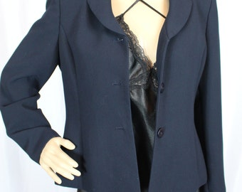 80s Collections for Le Suit navy blazer