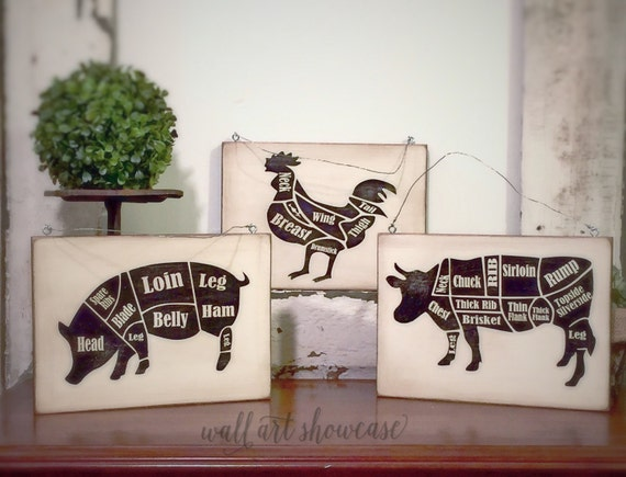 Hand Painted Antiqued Signs