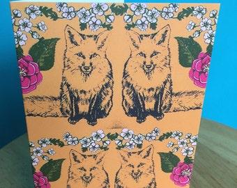 Foxy illustration greetings card