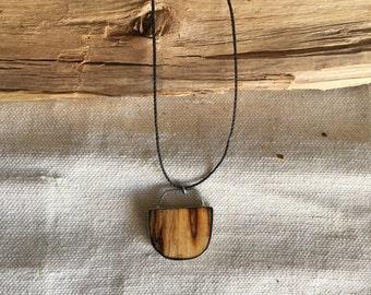 Alaskan birch necklace