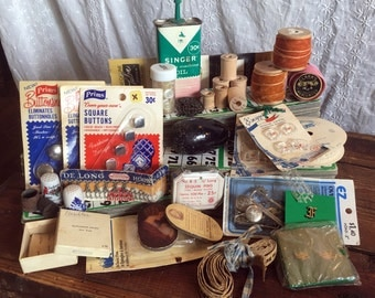 Large Vintage Sewing Notions Lot