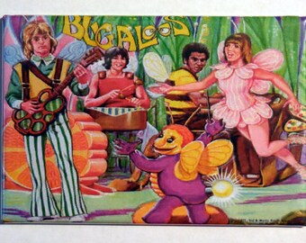 "The BUGALOOS Metal LUNCHBOX 2"" x 3"" Fridge Magnet Art Vintage Tv show"