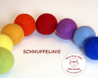 LARGE Felt balls, Felted XXL wool balls, Natural Eco Friendly Baby Toy, Waldorf Toy, Rainbow, 100% pure felt wool