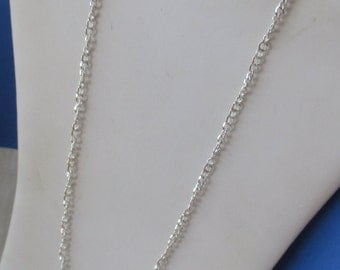 Retro Shiny Metal Link Long Chain Necklace