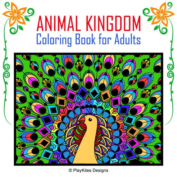 Animal Kingdom Printable Coloring Book For Adults By