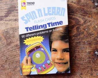 Spin 'n Learn Flash Cards Telling Time ~ by Trend ~ 1984