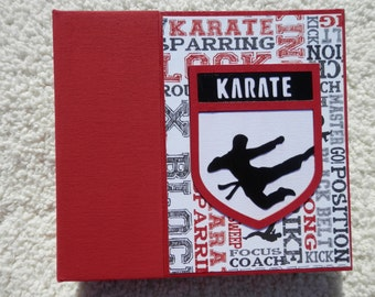 6x6 Premade Karate Scrapbook Album